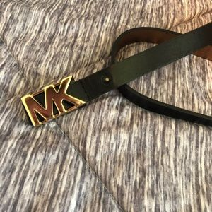Michael Kors Black Logo Belt